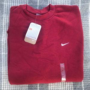 NWT ~ Men's Dark Red Nike Sweatshirt ~ XL